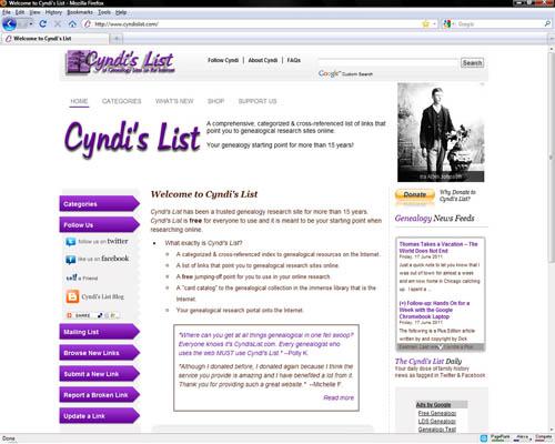 Cyndis List