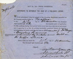 Pubicans Licence
