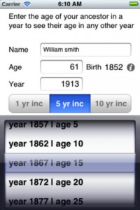 screenshot of Date Finder on the iPhone