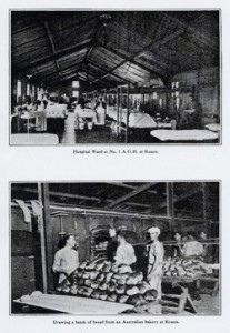 top: Hospital War at No. 1 A.G.H. at Rouen, France