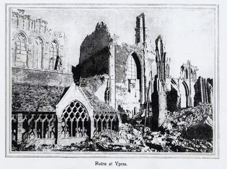 ruins at Ypres
