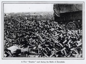 a few 'empties' used during the Battle of Zonnebeke