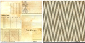 Bazzill Basics Heritage Note Cards 2 (Horizontal)