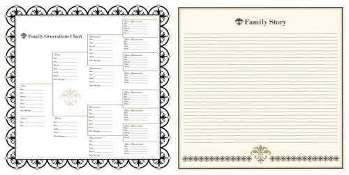 BAZP001-004 Family Generations Chart & Family Story