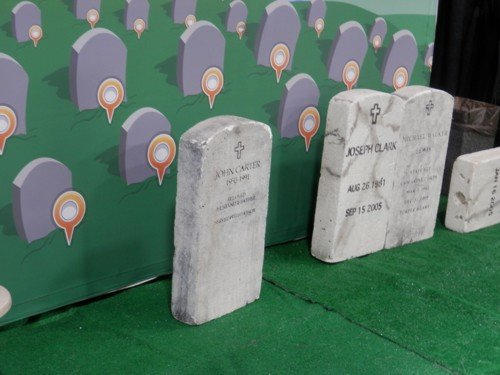 love these headstones which were a part of the BliionGraves stand