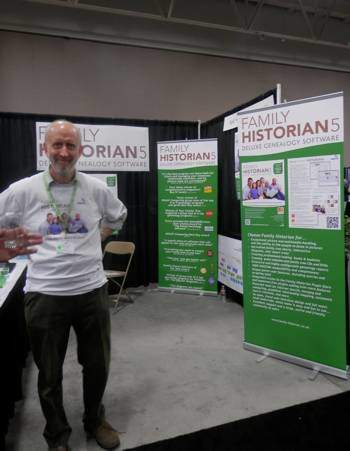 Simon Orde, creator of Family Historian genealogy software at RootsTech 2013