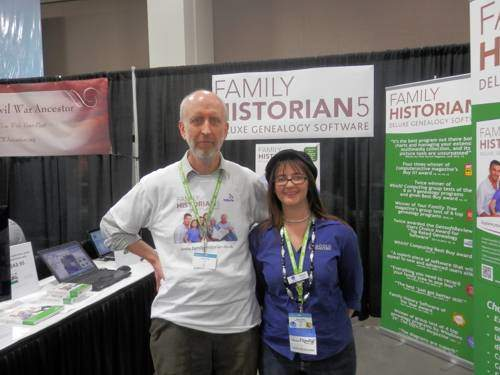 Simon Orde & Alona Tester at RootsTech 2013