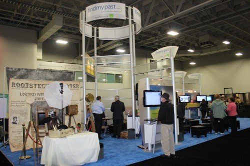 part of the very elaborate FindMyPast.com stand at RootsTech