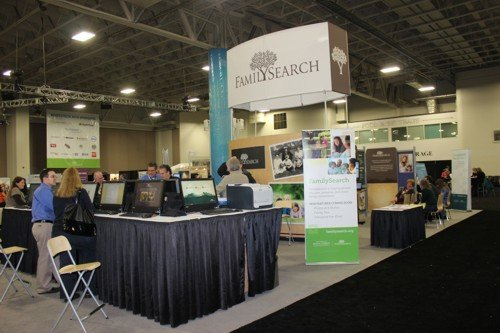 the FamilySearch stand was an impressive