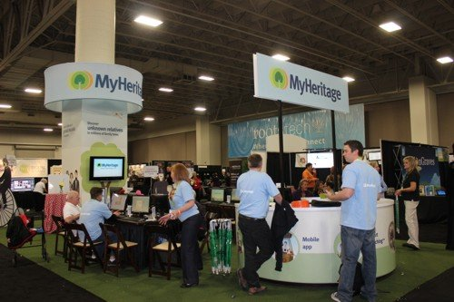 another very huge and very popular stand was the MyHeritage one