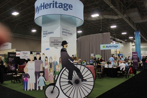 the MyHeritage stand from a diffferent angle