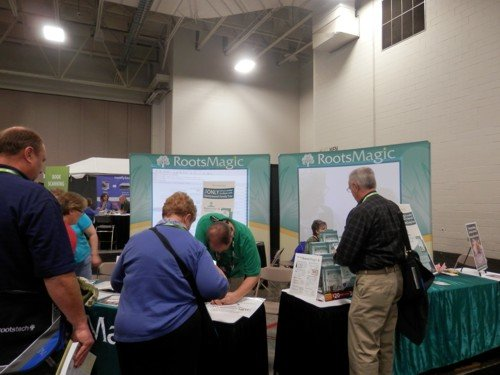 the RootsMagic stand at RootsTech