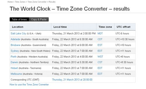 Time&Date - Salt Lake City time to Aus time