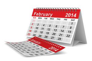 bigstockphoto-calendar-February 2014