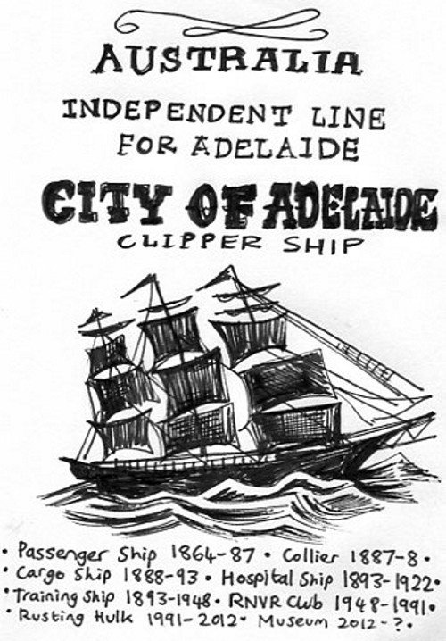 City of Adelaide Clipper ship 02