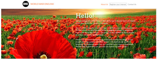 WorldWarOneLink homepage