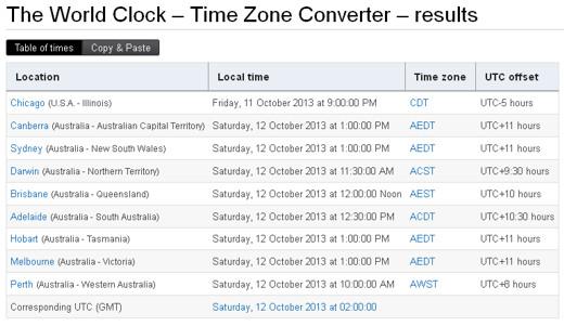 Genchat timezone converter