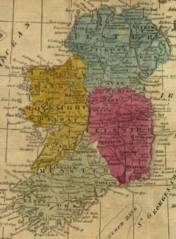 map - ireland 1808, 250