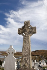 old gaelic graveyard in Kincasslagh county Donegal Ireland