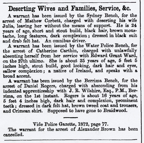 AU2103-1873 f NSW Police Gazette