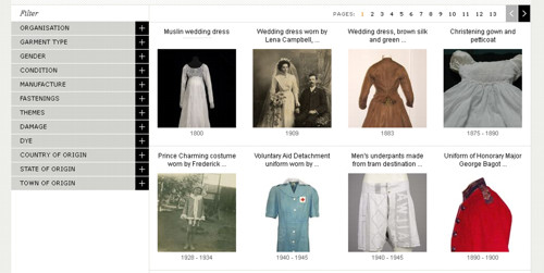 Australian Dress Register screenshot