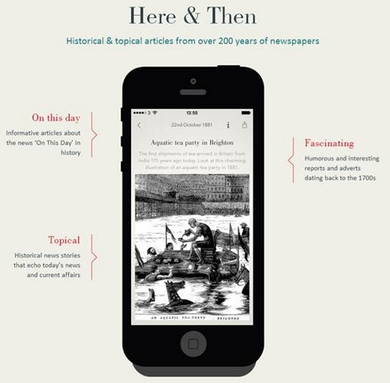 Here & Then British Newspapers App