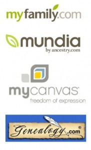 logo - mundia genealogy.com mycanvas myfamily