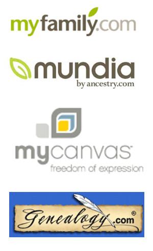 logo - mundia genealogy.com mycanvas myfamily