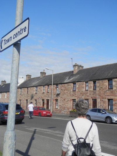 on the way to Invergordon's main street