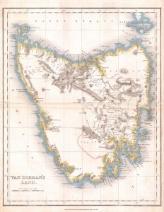 map - Tasmania old 1837