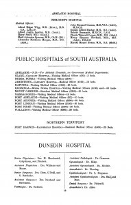 page from Loxton's 1911 Medical Directory