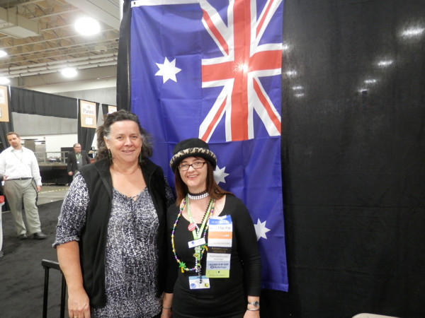 RootsTech 2013 NZSOG President, Michelle Patient and Alona Tester from Gould genealogy/Unlock the Past Cruises