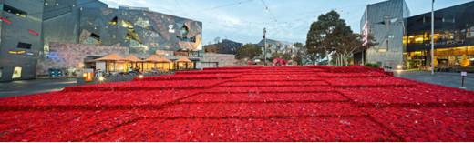 Federation Square, Melbourne, Anzac Day 2015