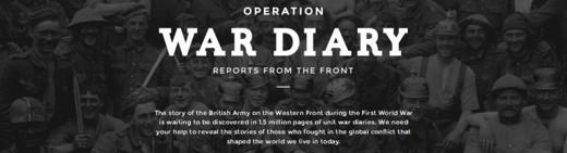 ww1 proejcts - Operation War Diary