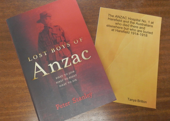 The Lost Boys of Anzac, and the ANZAC Hospital No. 1 at Harefield books