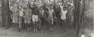 Allied prisoners of war after the liberation of Changi Prison, Singapore, c.1945 [source: Wikipedia]