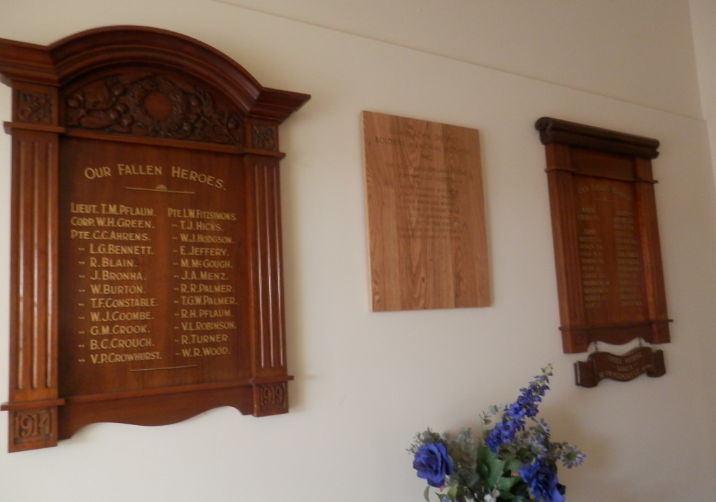 honour roll in the Gumeracha District Soldiers Memorial Hospital