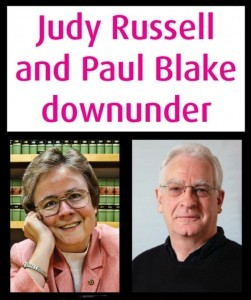 UTP Judy Russell Paul Blake Downunder Tour Map #1