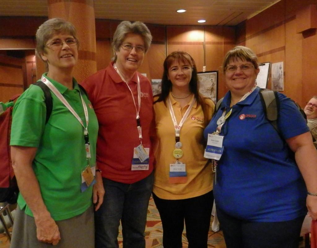 Anthea Phillips, Rosemary Kopittke, Alona Tester & Helen Smith on the 4th Unlock the Past cruise