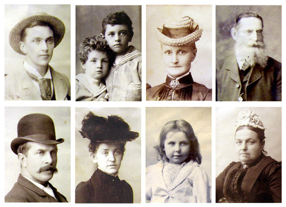 just a few of the 1000+ portraits in the Launceston Family Album