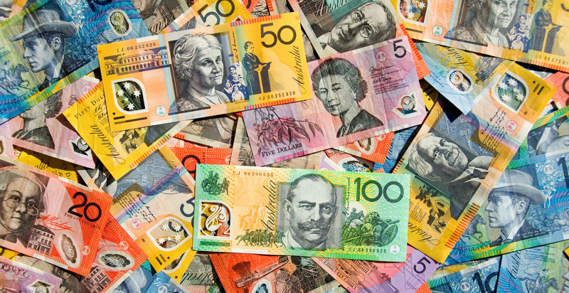 Australian Currency - One Hundred Fifty Twenty Ten & Five Dollar Notes