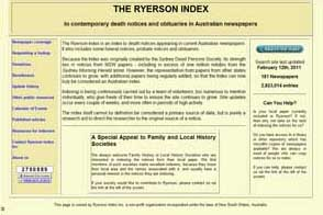 The Ryerson Index Makes an Appeal to Australian Local Groups