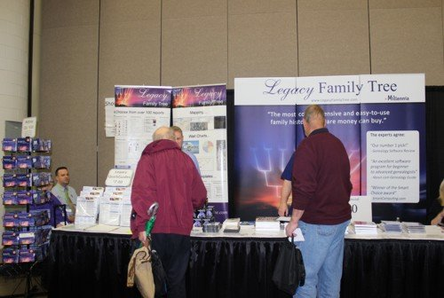 the Legacy Family Tree stand at RootsTech was busy throughout the three days
