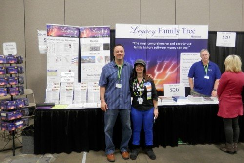 Geoff Rasmussen from Legacy Family Tree and Alona Tester from Gould Genealogy