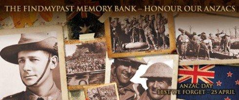 FindMyPast.com.au - Anzac Memory Bank