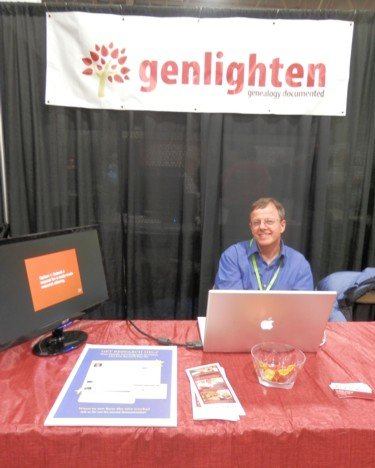 the Genlighten stand at RootsTech 2013