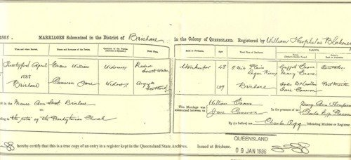 Queensland BDM Certificate 500
