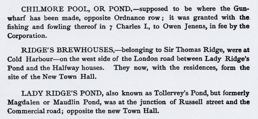 there's even a gazetteer, which covers Portsmouth topography