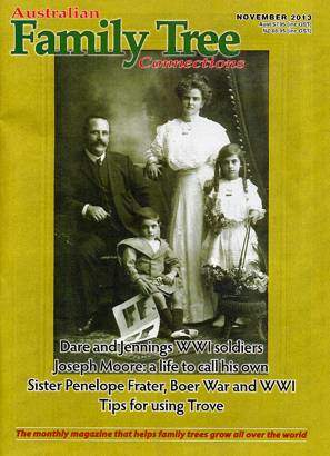 Australian Family Tree Connections – November 2013 Issue Out Now