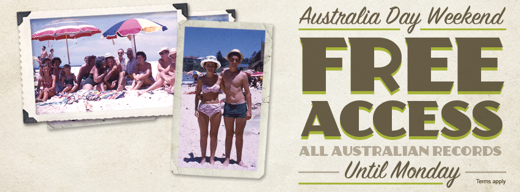 Australian Records FREE on Ancestry.com.au for Australia Day Weekend